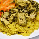 Indian Lemon Cilantro Chicken and Yellow Rice